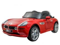 Vaikiškas vienvietis elektromobilis BMW Z8; raudonas Automobiliai vaikams