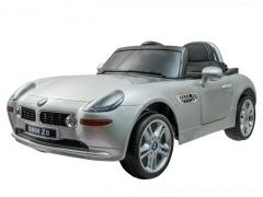 Vaikiškas vienvietis elektromobilis BMW Z8; sidabrinis Automobiliai vaikams