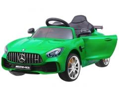 """Vaikiškas vienvietis elektromobilis """"Mercedes AMG GT R"""", žalias Automašīnas bērniem"""