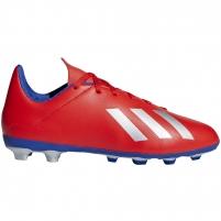Vaikiški futbolo bateliai adidas X 18.4 FxG JR czerwone BB9379