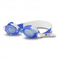Vaikiški plaukimo akiniai INDIGO G723, balti-mėlyni Glāzes ūdens sporta veidi