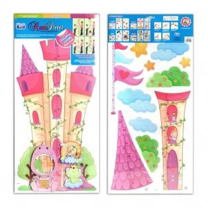 Vaikų ūgio matuoklė 04 pilis 20 - 170cm kambario dekoracija