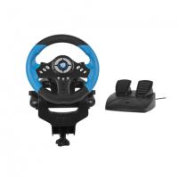 Vairalazdė Fury Skipper Driving Wheel, Black/Blue Žaidimų konsolės ir priedai
