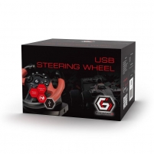 Vairalazdė Gembird USB vibrating racing wheel (PC/PS3) Žaidimų konsolės ir priedai
