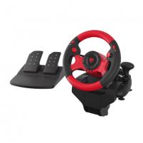 Vairalazdė Genesis Seaborg 300 Driving Wheel, Black/Red Žaidimų konsolės ir priedai