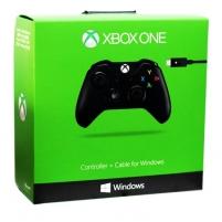 Vairamentė Microsoft XBOX ONE Wireless Controller black + Cable for Windows Žaidimų konsolės ir priedai