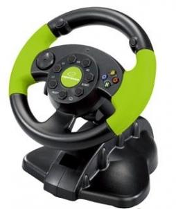 Vairas su vibracija Esperanza PC/PS3/XBOX EG104 HIGH OCTANE XBOX 360 Žaidimų konsolės ir priedai