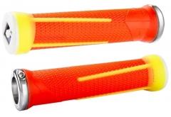 Vairo rankenėlės ODI AG-1 Signature V2.1 Lock-On Flouro Orange/Yellow