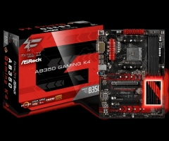 Vaizdo plokštė ASRock AB350 Gaming K4, AM4, DDR4 2667, 6 SATA3, 8 USB 3.0, HDMI, DVI-D, D-Sub