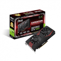 Vaizdo plokštė Asus Expedition NVIDIA, 6 GB, GeForce GTX 1060, GDDR5, PCI Express 3.0, Processor frequency 1506 MHz, DVI-D ports quantity 1, HDMI ports quantity 2, Memory clock speed 8008 MHz