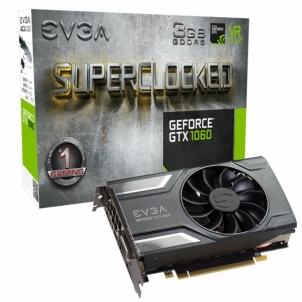 Vaizdo plokštė EVGA GeForce GTX 1060 SC GAMING, 3GB GDDR5 (192 Bit), HDMI, DVI, 3xDP