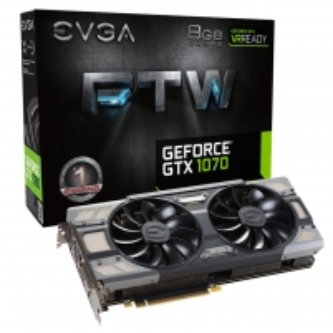 Vaizdo plokštė EVGA GeForce GTX 1070 FTW GAMING ACX 3.0, 8GB GDDR5 (256 Bit), HDMI, DVI, 3xDP