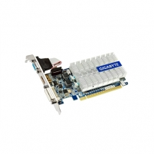 GIGABYTE GV-N210SL-1GI/GeForce 210 / PCI-E 2.0 / 1GB DDR3 / 64-bit / Core 520 MHz / Memo 1200 MHz / HDMI / DVI-I / D-Sub