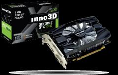 Vaizdo plokštė Inno3D GeForce GTX 1060 6GB Compact 2, HDMI 2.0b, Display Port 1.4, DVI-D