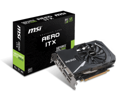 Vaizdo plokštė MSI GeForce GTX 1060 AERO ITX 6G, 6GB GDDR5, DP/HDMI/DVI