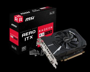 Vaizdo plokštė MSI Radeon RX 550 AERO ITX 4G OC, 4GB, DDR5 DL-DVI-D/HDMI/DP/ATX/