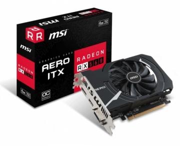 Vaizdo plokštė MSI Radeon RX 560 AERO ITX 4G OC, 4GB, DL-DVI-D/HDMI/DP/ATX/FAN