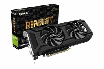 Vaizdo plokštė PALIT GeForce GTX 1080 DUAL 8GB GDDR5X 256 bit DVI 3*DP HDMI