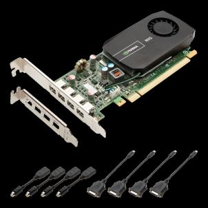 Vaizdo plokštė PNY NVIDIA NVS 510, 2GB GDDR3 (128 Bit), 4x miniDP, Low Profile