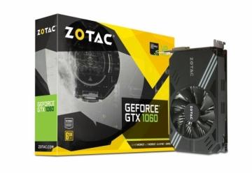 Vaizdo plokštė ZOTAC GeForce GTX 1060 Mini, 6GB GDDR5 (192 Bit), HDMI, DVI, 3xDP, RETAIL