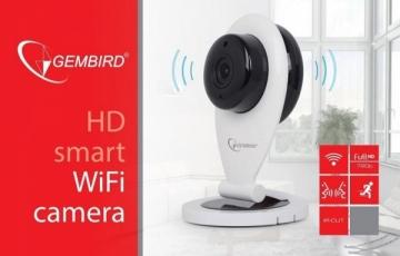 Vaizdo stebėjimo kamera Gembird HD WiFi camera, white