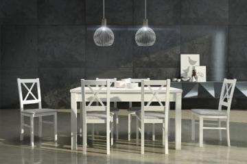 Valgomojo išskleidžiamas stalas Modena I baltas