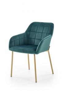 Valgomojo kėdė K306 tamsiai žalia