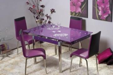 Valgomojo Stalas GD-082 violetinis