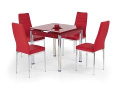 Valgomojo stalas KENT raudonas