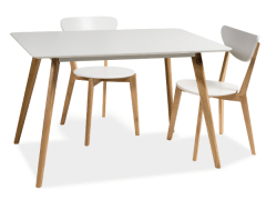 Table Milan 120x80 Baldų kolekcija Scandinavian