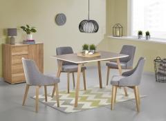 Valgomojo stalas PETRUS ąžuolas sonoma/balta
