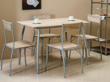 Valgomojo Stalas su kėdėm Modus ąžuolas sonoma Valgomojo stalai
