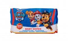 Valomosios servetėlės Nickelodeon Paw Patrol Baby 56pc Kūdikių higienos prekės, sauskelnės