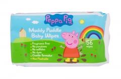 Valomosios servetėlės Peppa Pig Peppa Baby 56pc Kūdikių higienos prekės, sauskelnės
