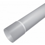 Vamzdis lygus su mova d16, 3m, 320N, pilkas (RAL7035), nuo -5 iki +60°C, Minbud RLk 16/3