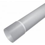 Vamzdis lygus su mova d32, 3m, 320N, pilkas (RAL7035), nuo -5 iki +60°C, Minbud RLk 32/3
