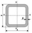 Square tubes 120x120x4 S355 Square cornered tubes