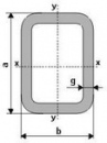 Rectangular tubes 80x60x3 S355