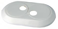Vamzdžio rozetė dviguba balta, d 15 Instalplast montāžas instrumenti