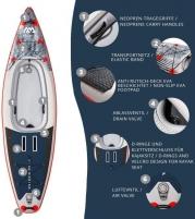 Vandenlentė BT-21CAP Aqua Marina Cascade SUP-Kayak Hybrid 2021 SUP КАЯК HYBRID aquamarina ISUP pripučiama Vandenlentės