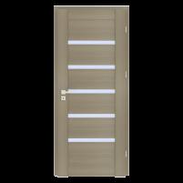 Varčia ECO-GRANDE6 K08 U302 (Pelenų žievė-Verto Line-3d) /su užlaida(akt) /3 vyriai/spyna Standard (WB-cilind., bsr) /Stiklas-satinato/be ventiliacijos Finierētas durvis