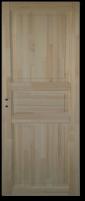 Varčia su stakta MONTE KOKA 3P 60 universalios pušies masyvo Medinės durys