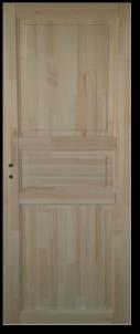 Varčia su stakta MONTE KOKA 3P 80 universalios pušies masyvo Medinės durys