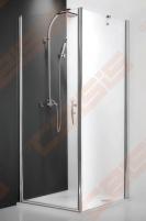 Varstomos dušo durys ROLTECHNIK HITECH HORIZON HHOL1/120/200 su brillant spalvos profiliu ir skaidriu stiklu (kairė pusė)