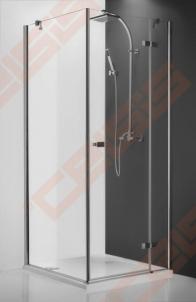 Varstomos dušo durys ROLTECHNIK HITECH HORIZON PLUS HPOL1/90 su brillant spalvos profiliu ir skaidriu stiklu (kairė pusė)