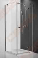 Varstomos dušo durys ROLTECHNIK HITECH HORIZON PLUS HPOP1/100 su brillant spalvos profiliu ir skaidriu stiklu (dešinė pusė)