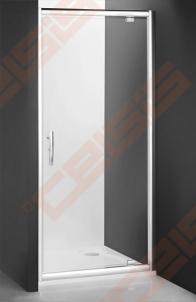 Varstomos dušo durys ROLTECHNIK PROXIMA LINE PXDO1N/80, skirtos montuoti į nišą, su brillant spalvos profiliu ir šerkšnu padengtu stiklu