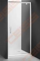 Varstomos dušo durys ROLTECHNIK PROXIMA LINE PXDO1N/90, skirtos montuoti į nišą, su brillant spalvos profiliu ir šerkšnu padengtu stiklu