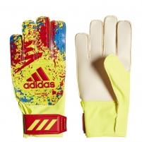 Vartininko pirštinės ADIDAS CLASSIC TRAINING JR DT8748 yellow-red-blue, red logo Goalie gloves