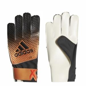 Vartininko pirštinės adidas X LITE CF0086 juodos-oranžinės